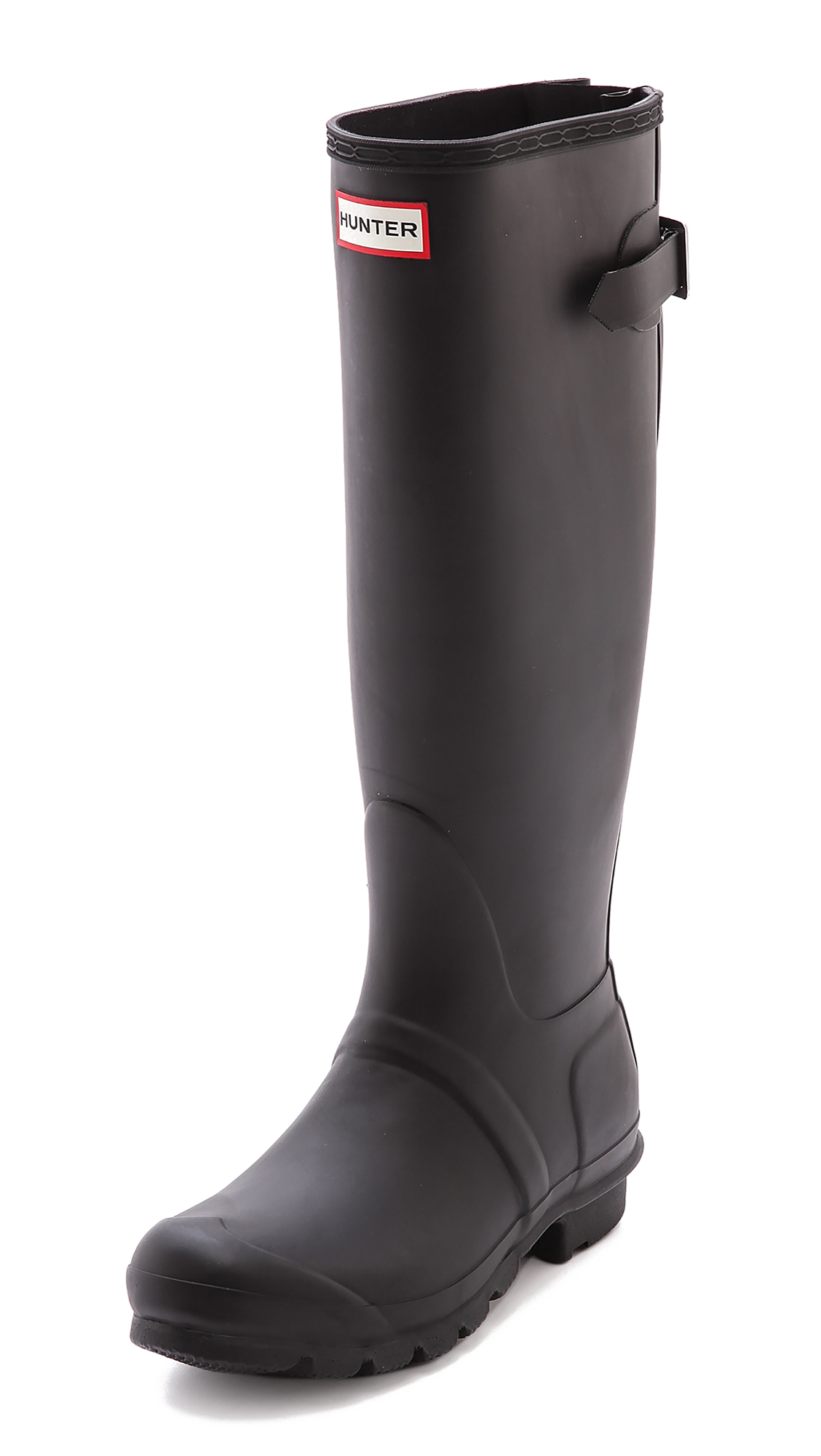 Hunter Boots Original Back Adjustable Boots - Black