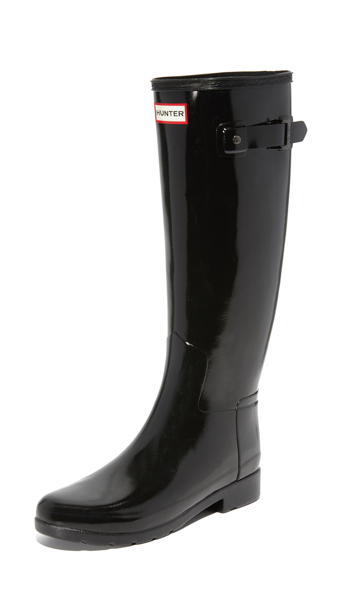 Hunter Boots Original Refined Gloss Boots - Black at Shopbop