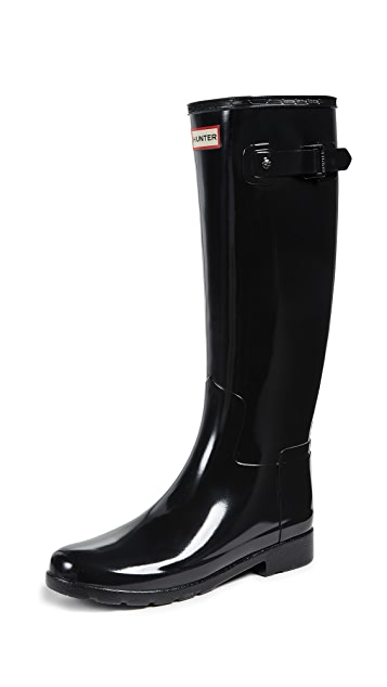 Photo of  Hunter Boots Original Refined Gloss Boots- shop Hunter Boots Boots, Flat online sales
