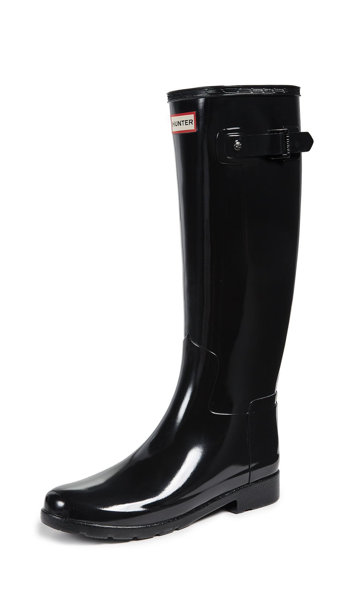 Hunter Boots Original Refined Gloss Boots - Black