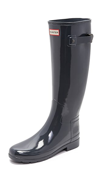 Hunter Boots Original Refined Gloss Boots - Dark Slate at Shopbop