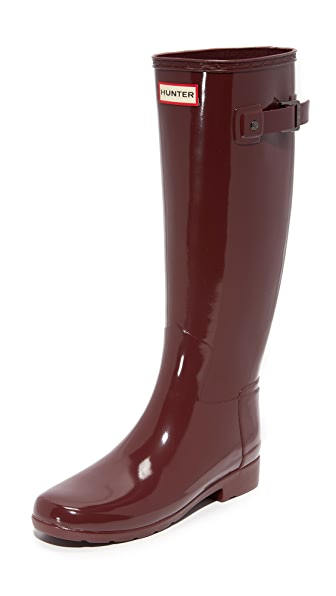 Hunter Boots Original Refined Gloss Boots - Dulse at Shopbop