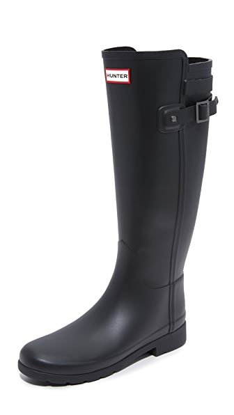 Hunter Boots Original Refined Back Strap Boots - Black