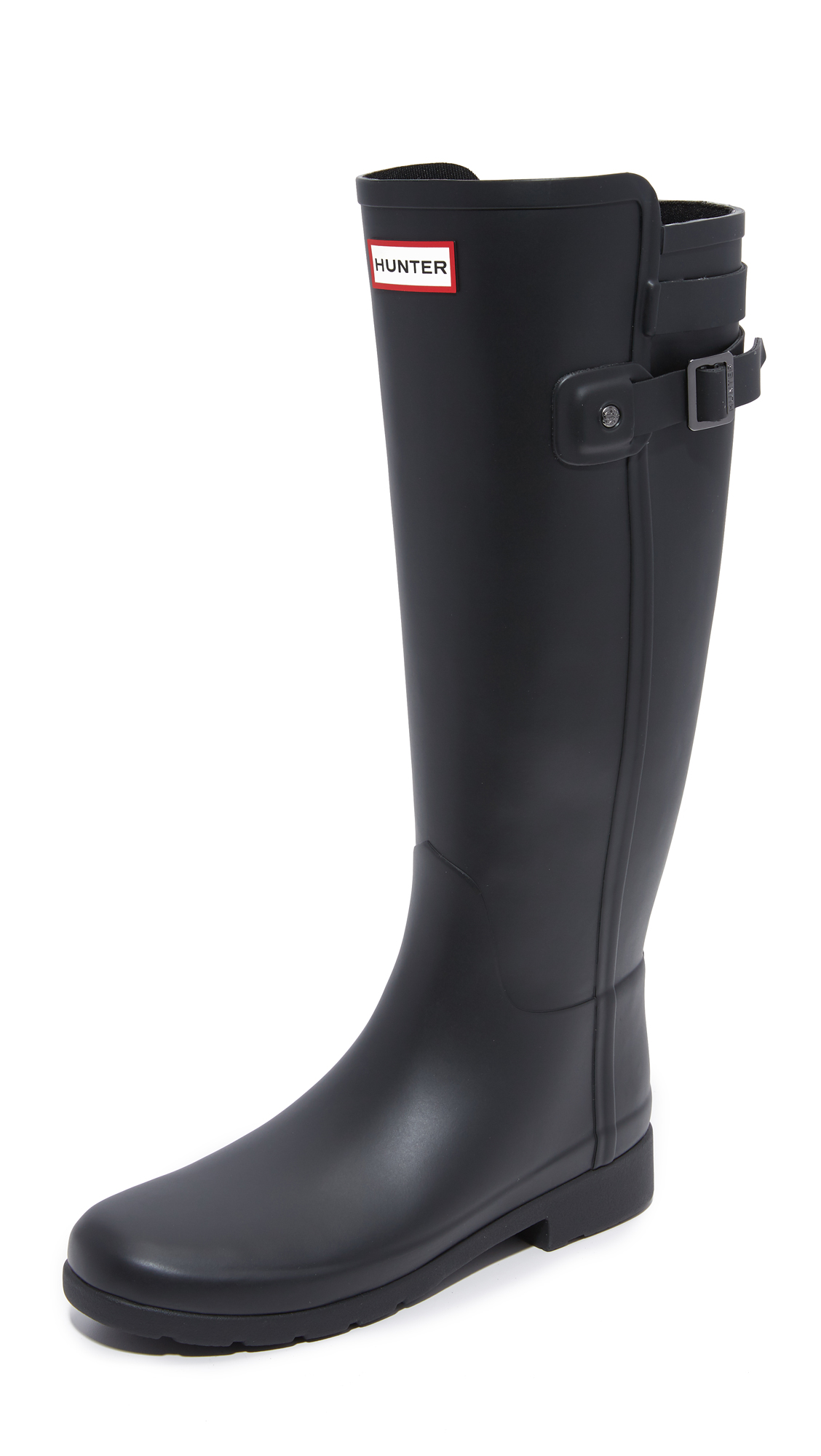 Hunter Boots Original Refined Back Strap Boots - Black at Shopbop