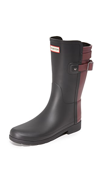 Hunter Boots Original Refined Short Boots - Black/Dulse at Shopbop