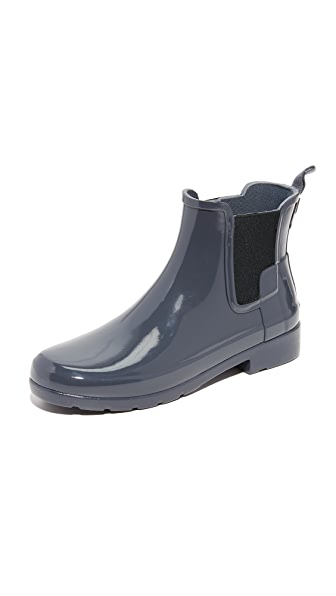 Hunter Boots Original Refined Chelsea Booties - Dark Slate at Shopbop