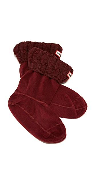 Hunter Boots Cable Short Boot Socks - Dulse at Shopbop
