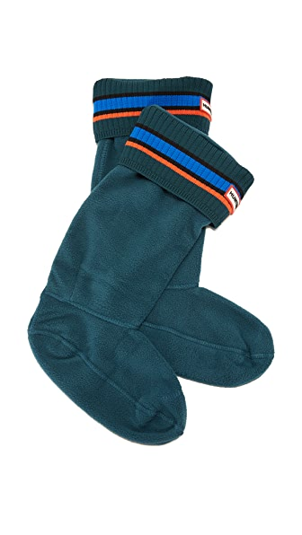 Hunter Boots Buoy Stripe Boot Socks - Ocean/Azure/Scallop at Shopbop