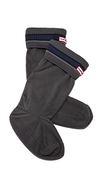 Hunter Boots Buoy Stripe Boot Socks - Grey/Black at Shopbop