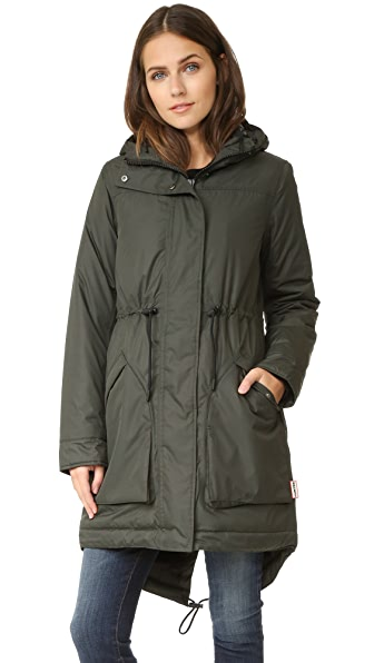 Hunter Boots Insulated Parka - Dark Olive at Shopbop