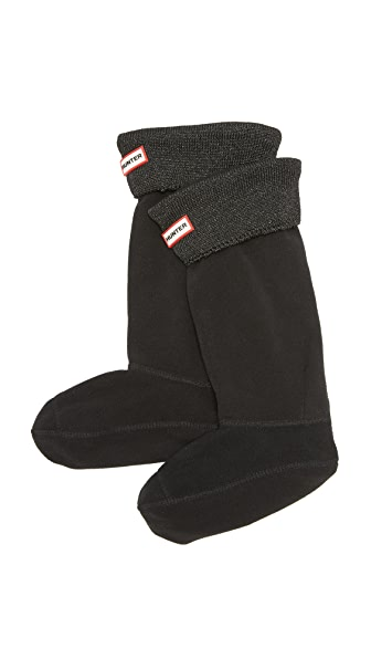 Hunter Boots Glitter Cuff Boot Socks - Black