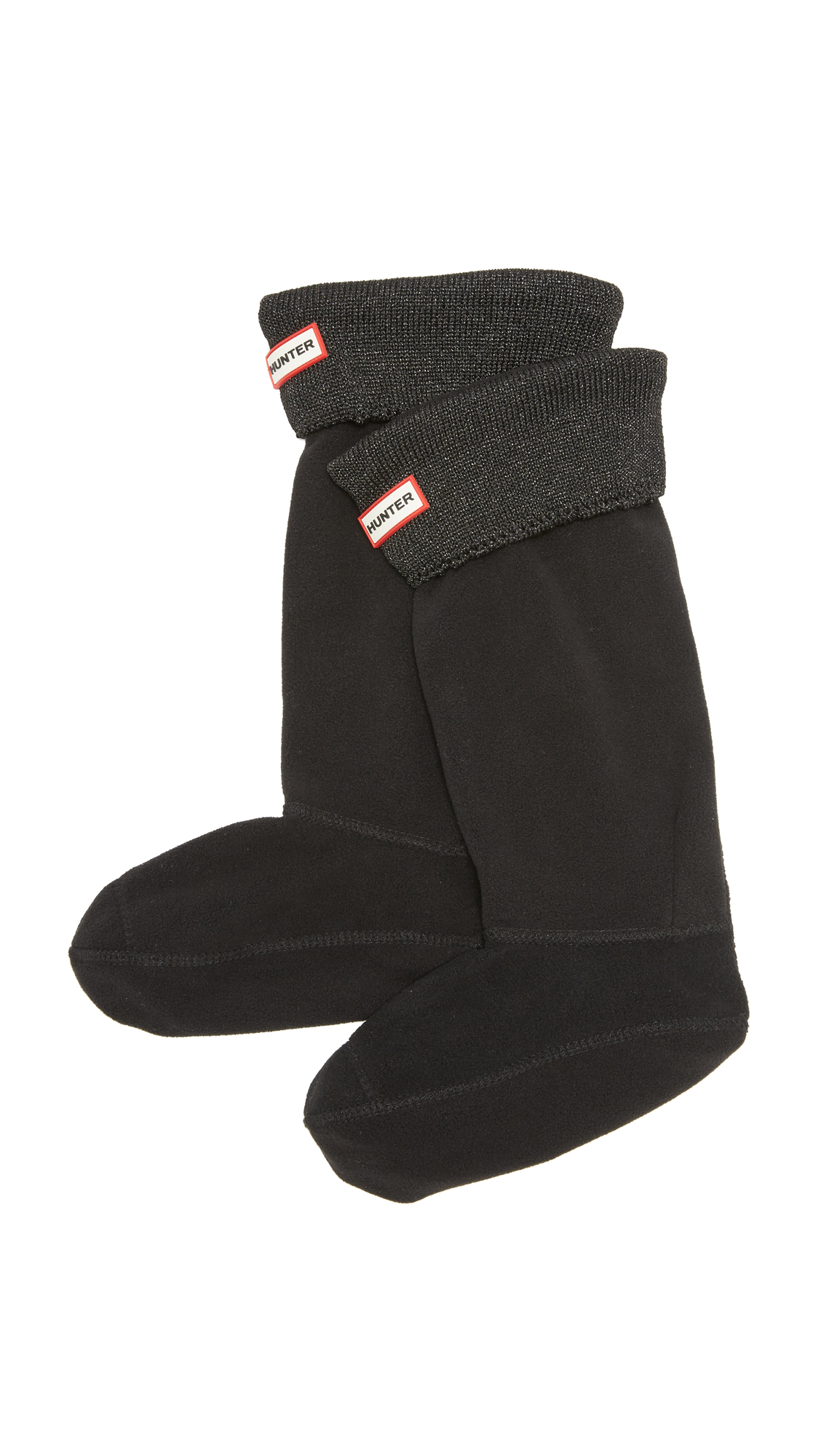 Hunter Boots Glitter Cuff Boot Socks - Black at Shopbop