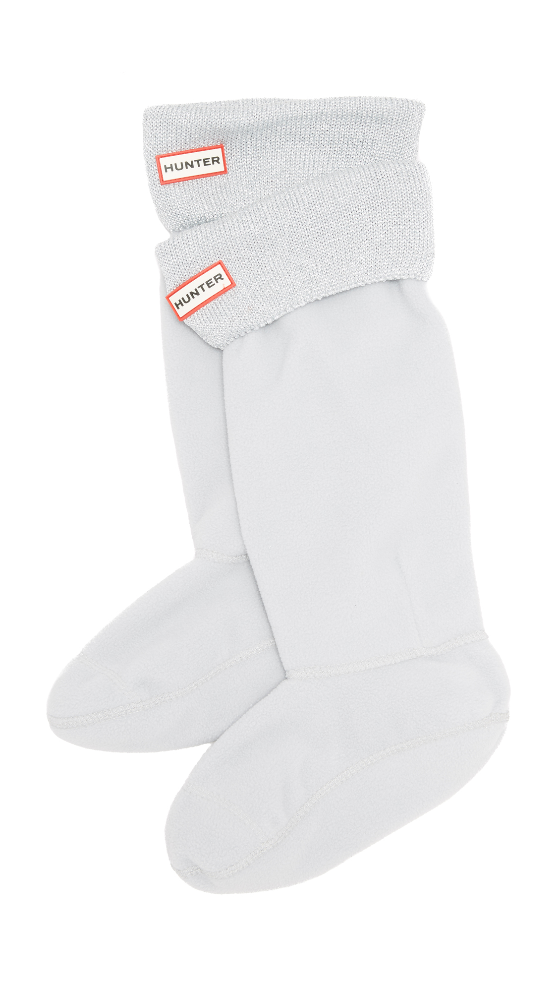 Hunter Boots Glitter Cuff Boot Socks - Dove Grey at Shopbop