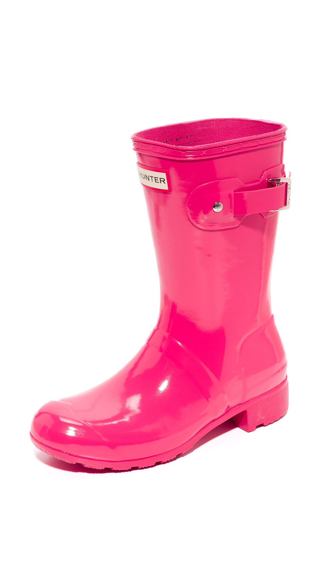 Hunter Boots Original Tour Short Gloss Boots - Mosse Pink at Shopbop