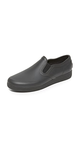 Hunter Boots Original Refined Rubber Slip On Sneakers - Black