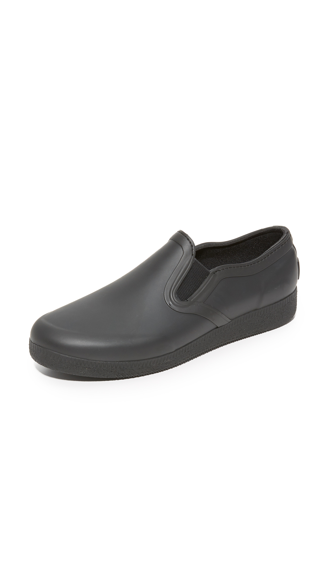 Hunter Boots Original Refined Rubber Slip On Sneakers - Black at Shopbop
