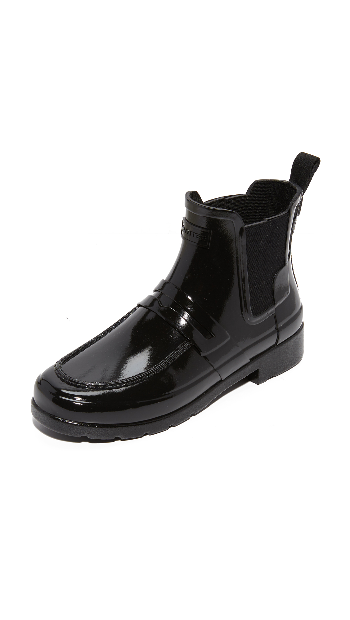 Hunter Boots Original Refined Penny Loafer Booties - Black at Shopbop