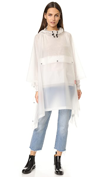Hunter Boots Original Vinyl Poncho - White