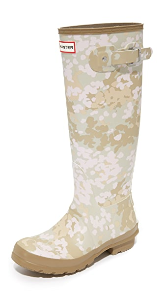 Hunter Boots Original Tall Camo Boots - Pale Sand