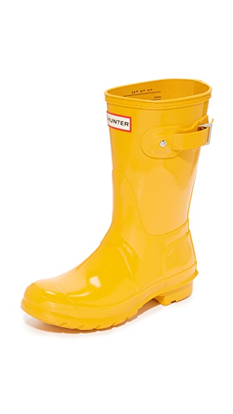 Hunter Boots Original Short Gloss Boots at Shopbop