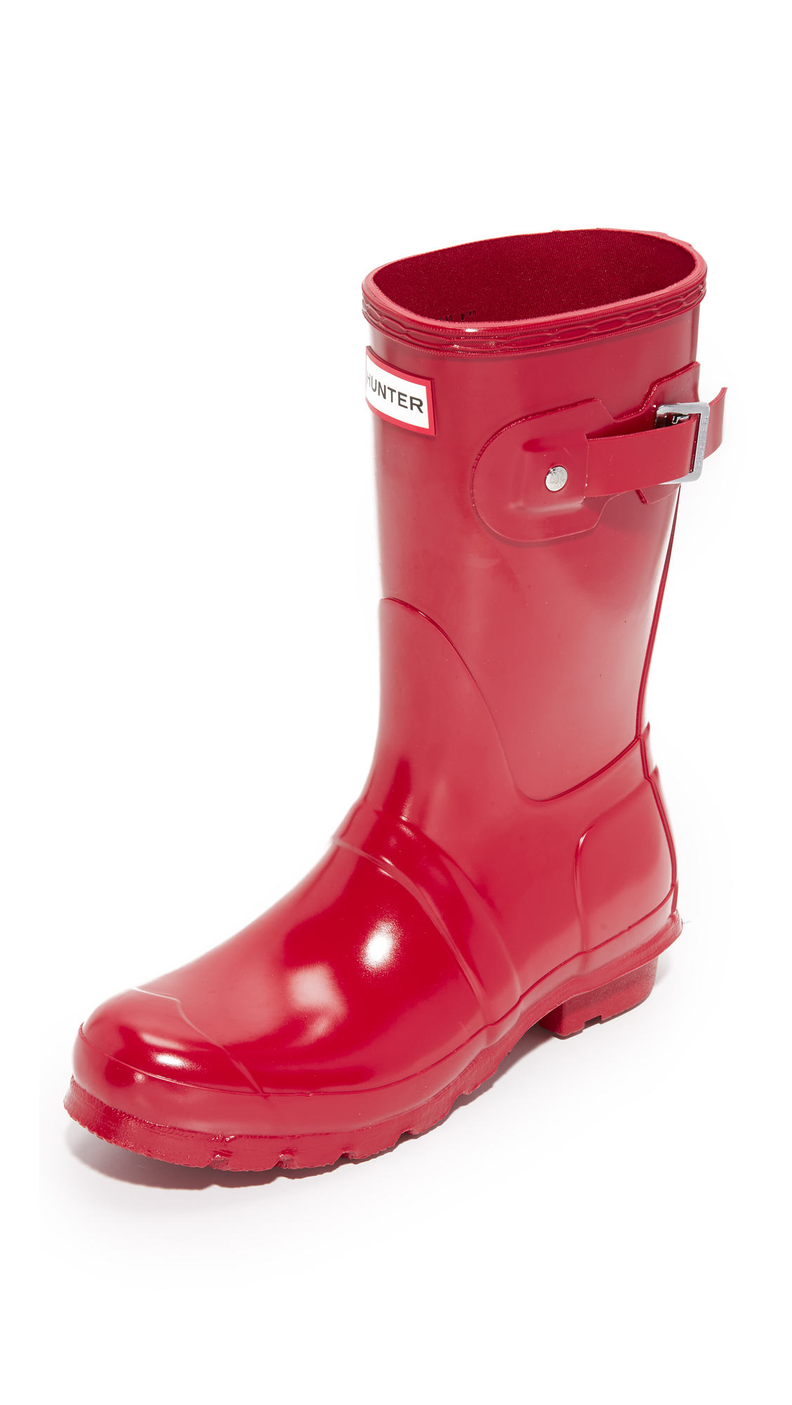 Hunter Boots Original Short Gloss Boots - Military Red at Shopbop