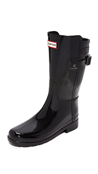 Hunter Boots Refined Back Strap Short Gloss Boots