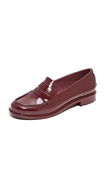 Hunter Boots Original Penny Loafers In Dulse