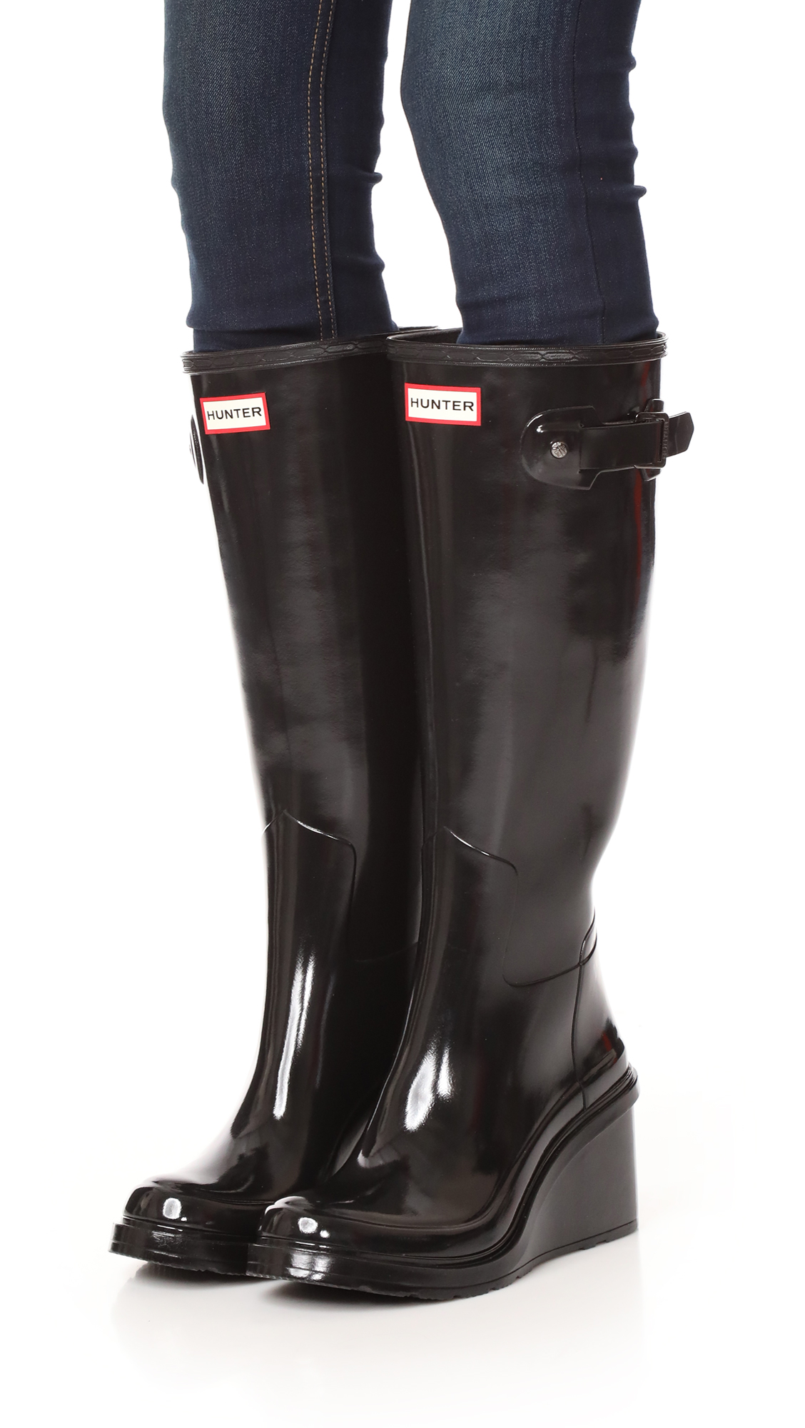 ca64941a90a Hunter Boots Original Refined Mid Wedge Tall Boots