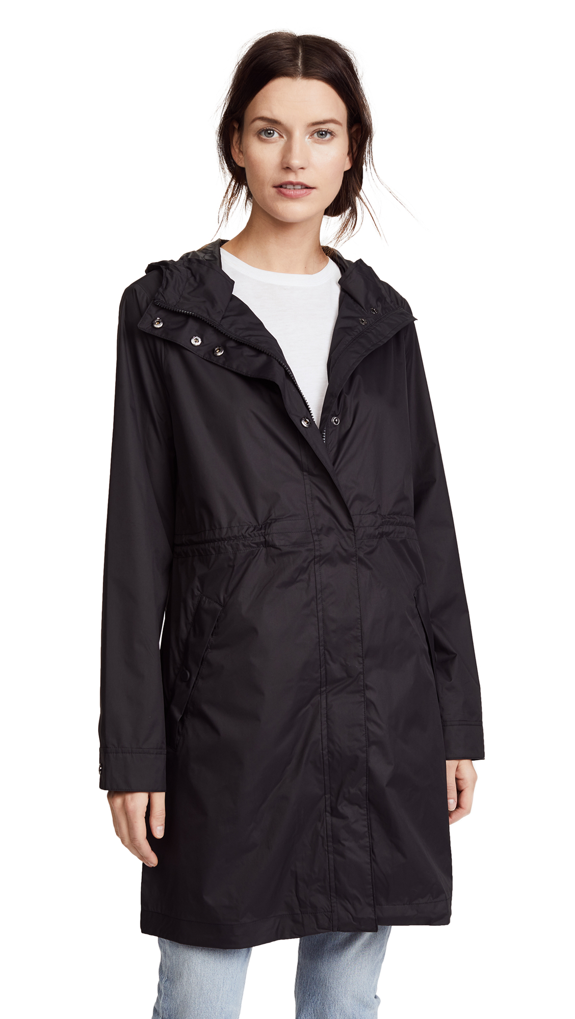 Hunter Boots Packable Drawstring Coat - Black