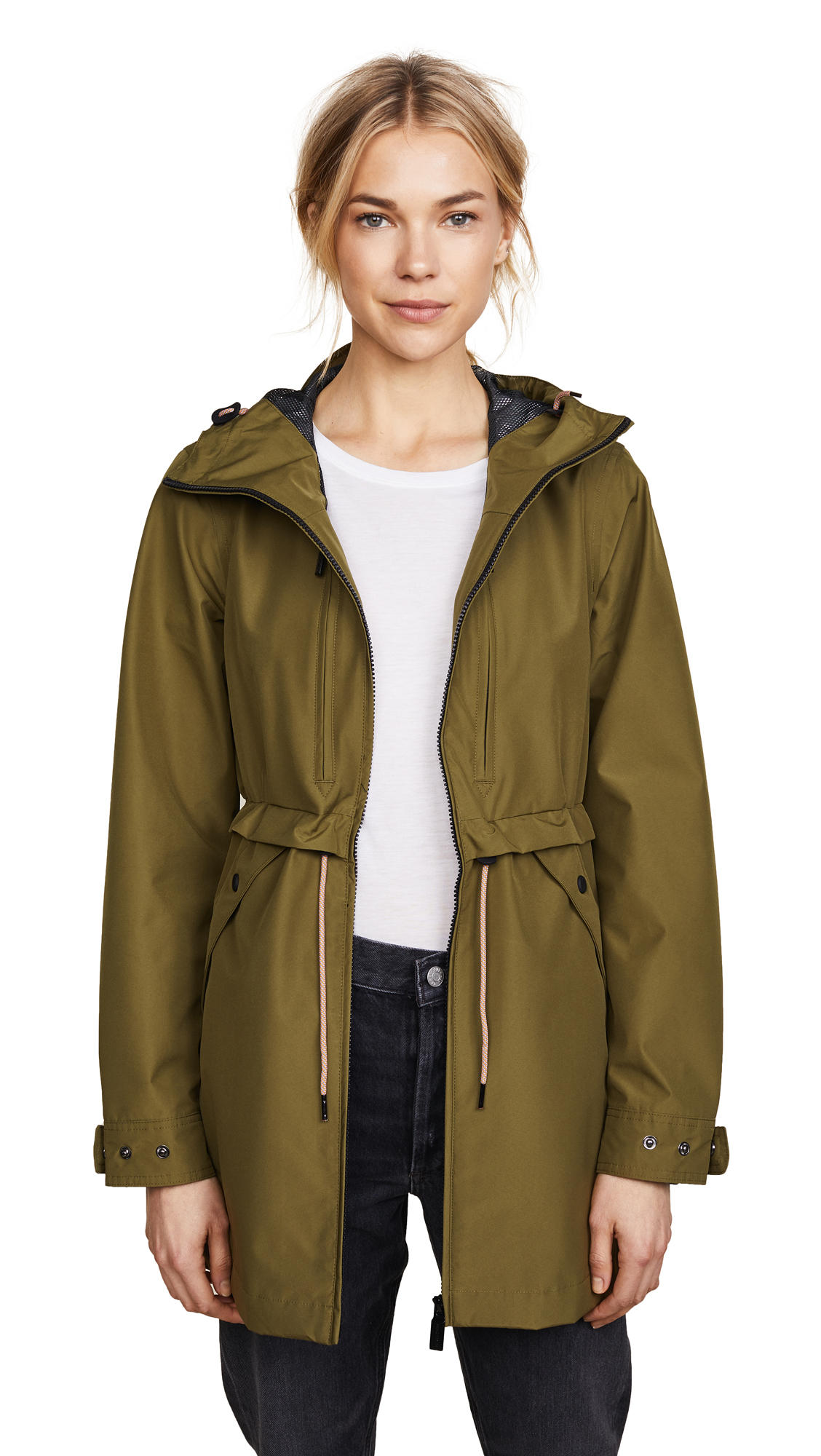 Hunter Boots Layer Long Anorak - Khaki