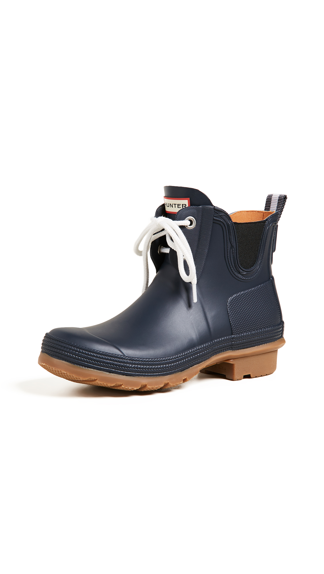 Hunter Boots Original Sissinghurst Lace Up Boots - Navy/Gum