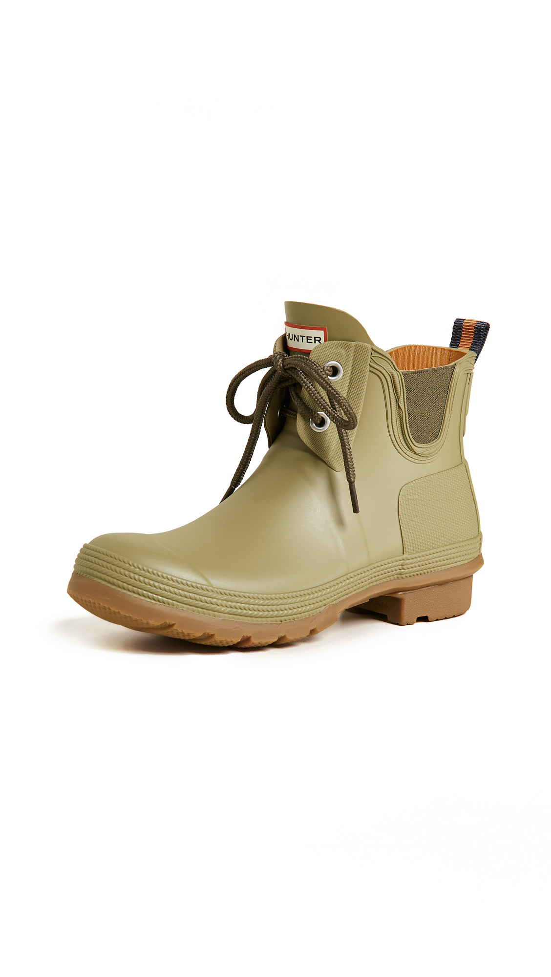 Hunter Boots Original Sissinghurst Lace Up Boots - Sage/Gum