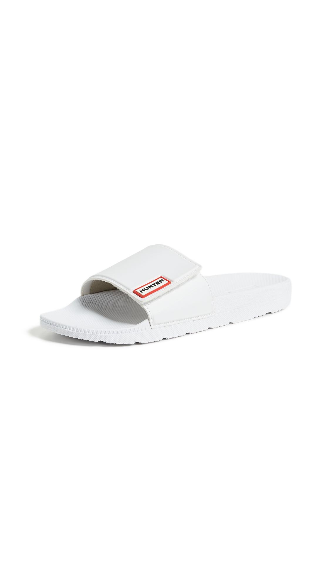 Hunter Boots Original Adjustable Slides - White