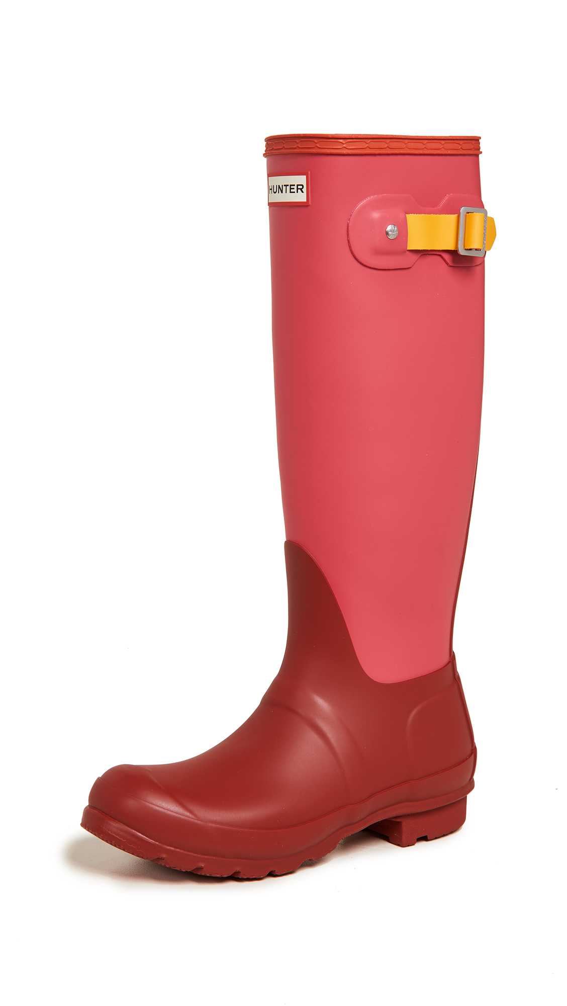 Hunter Boots Original Tall Colorblock Boots - Military Red