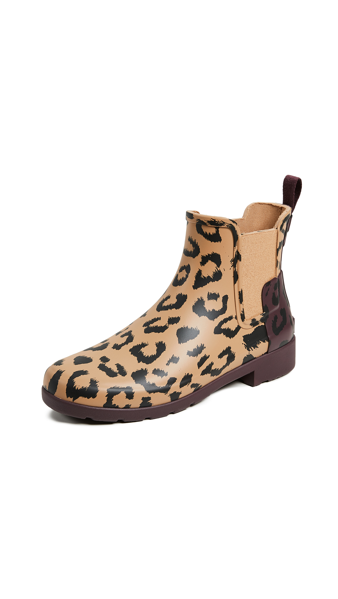 Hunter Boots Refined Chelsea Hybrid Print Boots - Tawny/Oxblood