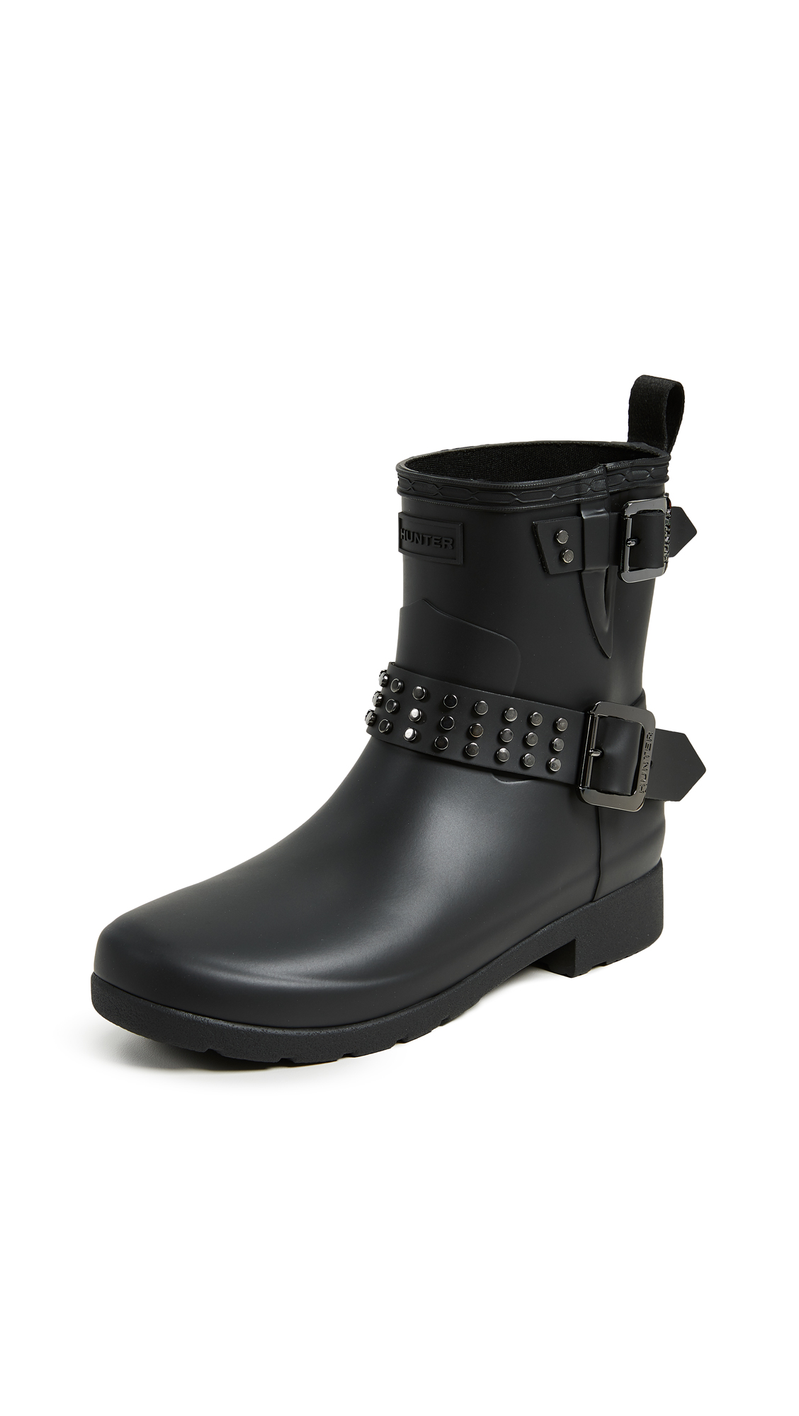 Hunter Boots Refined Stud Biker Boots - Black