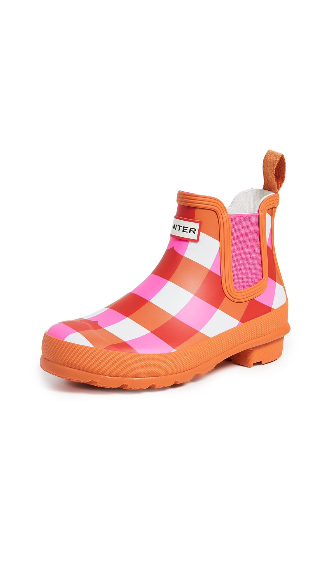 Hunter Boots Original Chelsea Gingham Boots - Arcade Pink