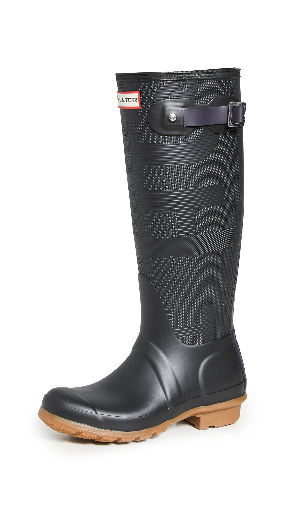 Hunter Boots Womens Original Tall Exploded Logo Texture Boots - 30% Off Sale