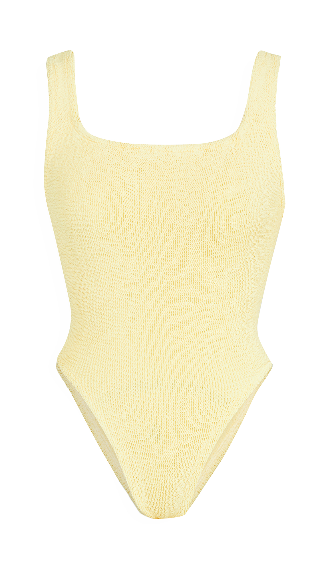 Hunza G Classic Square Neck One Piece In Yellow