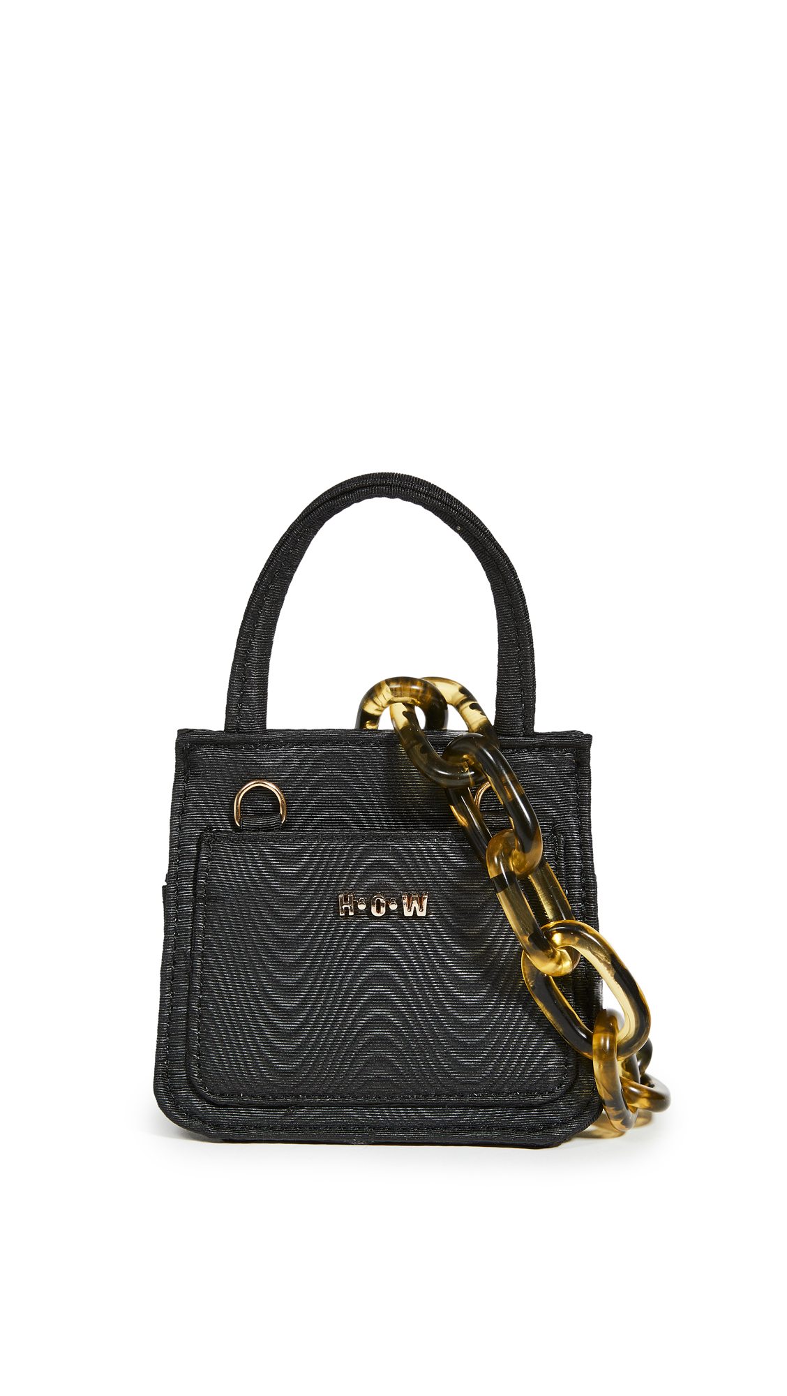 House Of Want Newbie Baby Micro Top Handle Bag In Black