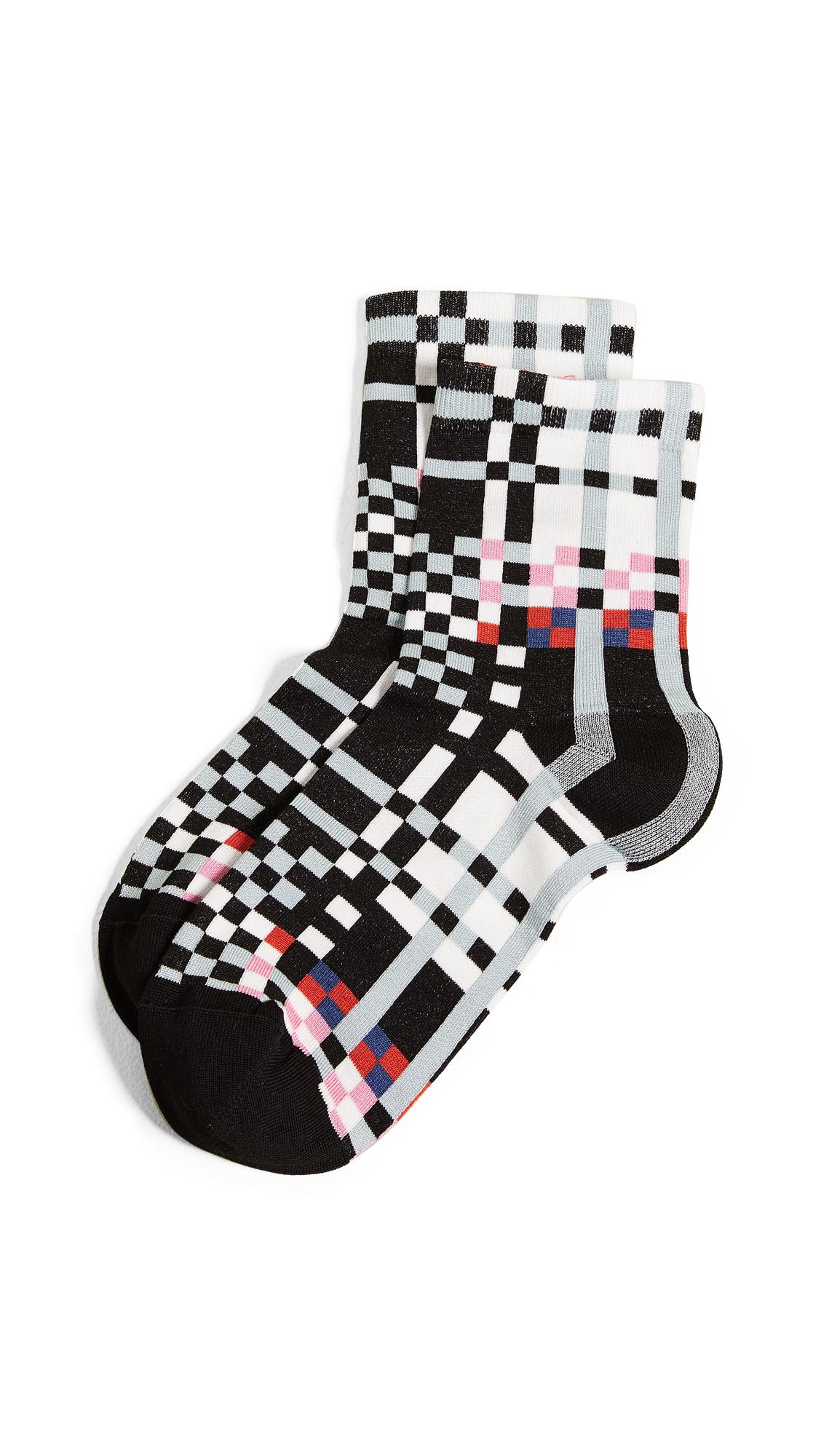 Hysteria Polly Ankle Socks In Black/Multi