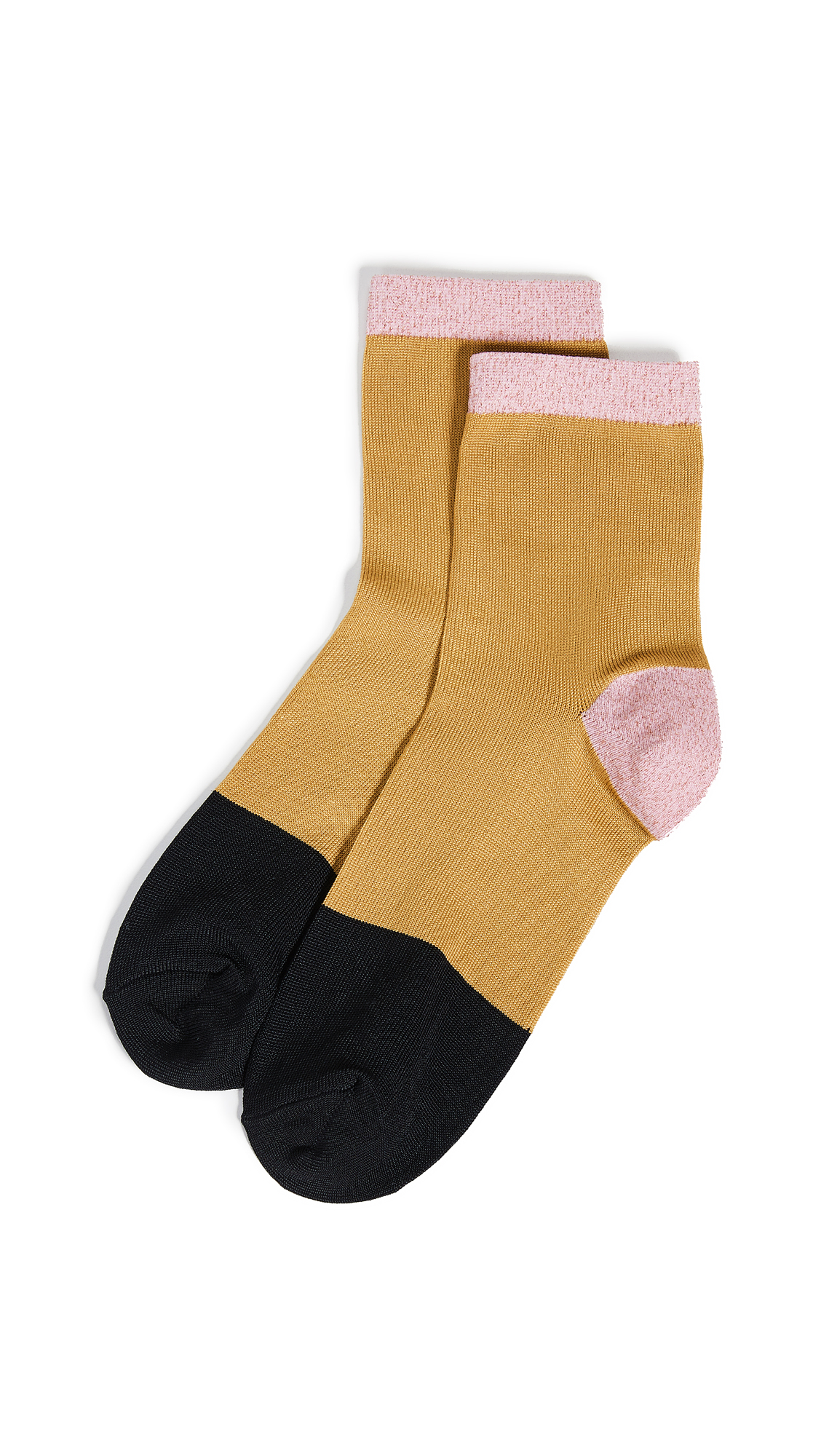 HYSTERIA Liza Ankle Socks in Yellow