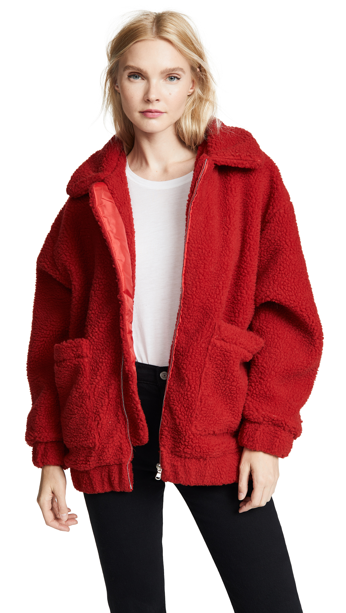 I.AM. GIA Pixie Coat In Red