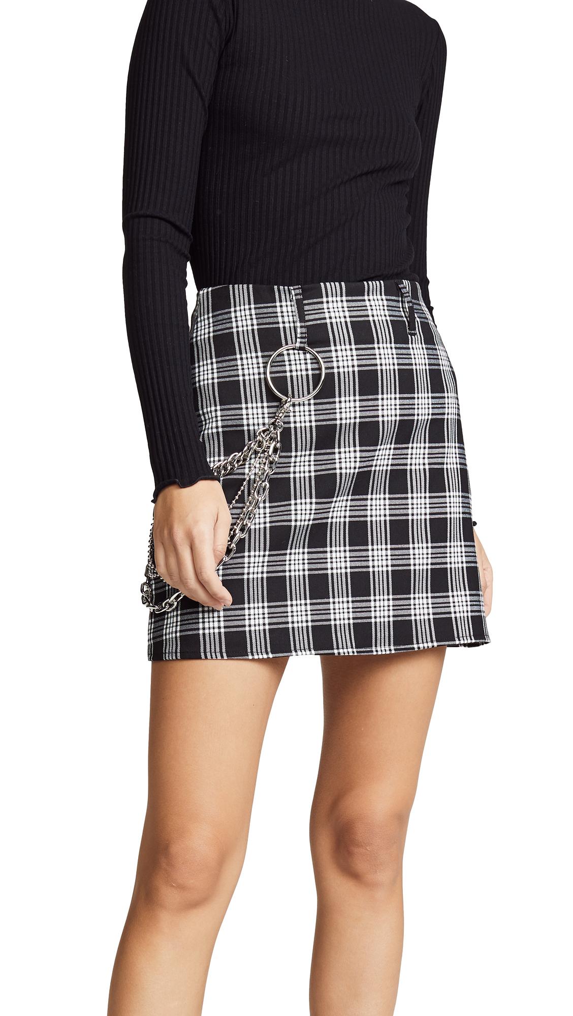 I.AM.GIA I.Am. Gia Madison Skirt in Black/White Tartan