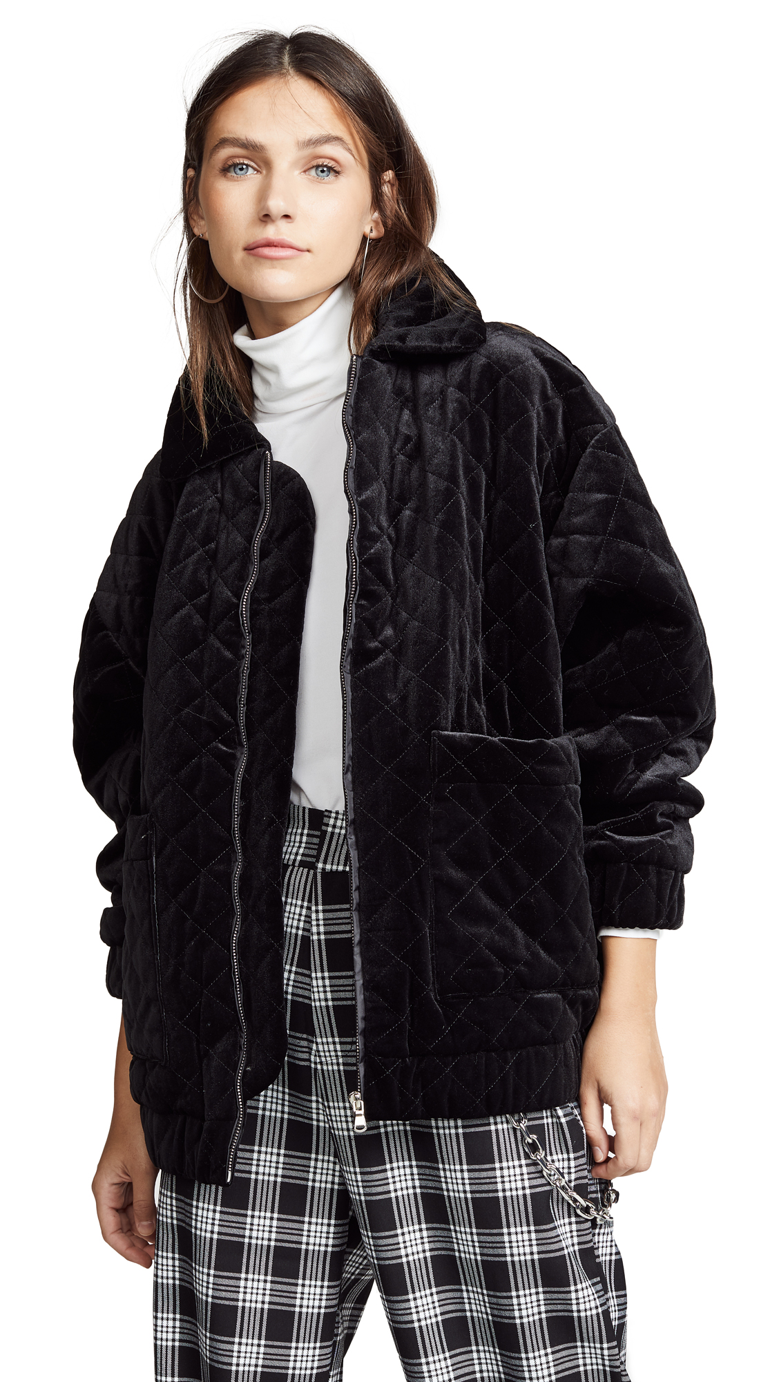 I.AM. GIA Contraband Jacket In Quilted Black