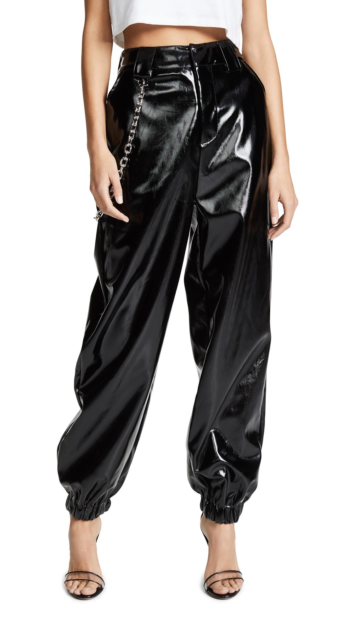 I.AM.GIA I.Am. Gia Cobain Coated Cargo Pants in Black