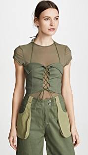 I.AM.GIA Eloise Corset with Mesh T-Shirt