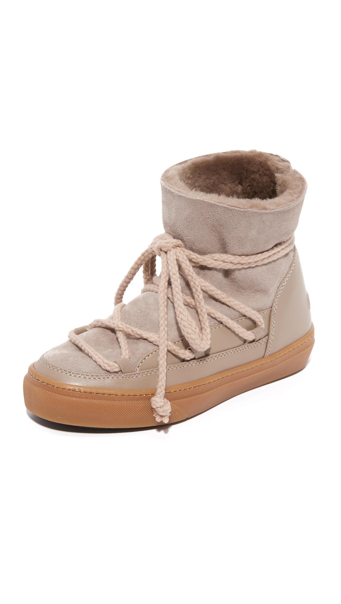 Inuiki Classic Sneaker Booties - Beige
