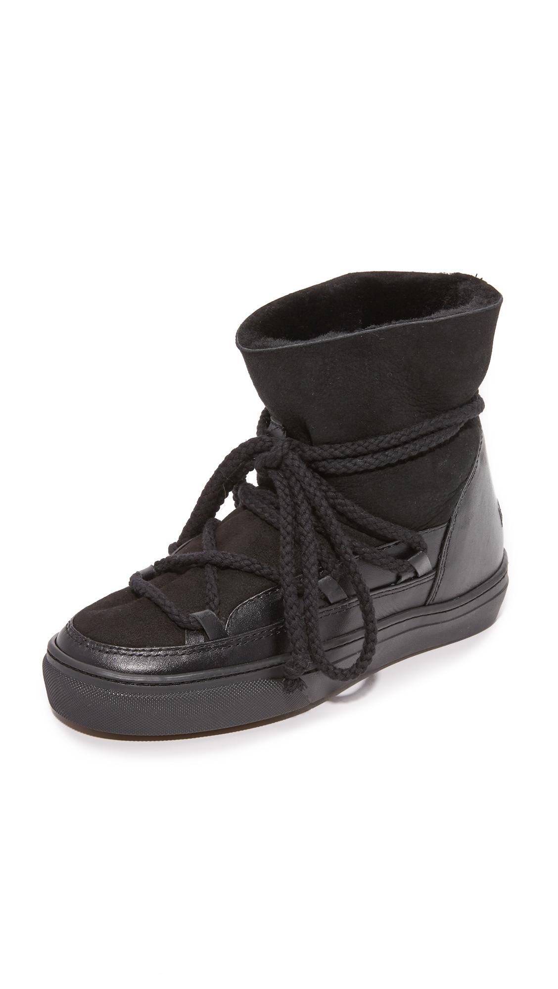 Inuiki Classic Sneaker Booties - Black