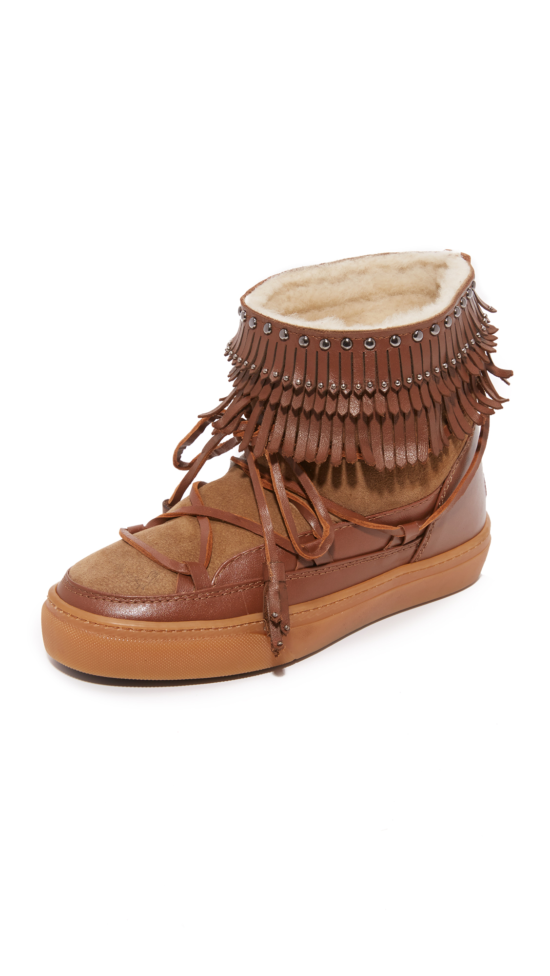 Inuiki Fray Sneaker Booties - Coconut